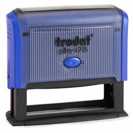 Tampon Trodat 4918 personnalisable - utilisation bureau - format 75x15 mm - bleu (photo)