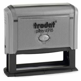 Tampon Trodat 4918 personnalisable - utilisation bureau - format 75x15 mm - gris (photo)