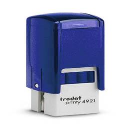 Tampon Trodat 4921 personnalisable - utilisation bureau - format 12x12 mm - bleu (photo)