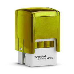 Tampon Trodat 4921 personnalisable - utilisation bureau - format 12x12 mm - jaune (photo)