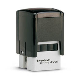 Tampon Trodat 4921 personnalisable - utilisation bureau - format 12x12 mm - noir (photo)