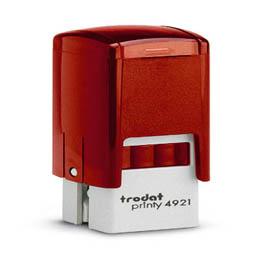 Tampon Trodat 4921 personnalisable - utilisation bureau - format 12x12 mm - rouge (photo)