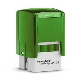 Tampon Trodat 4921 personnalisable - utilisation bureau - format 12x12 mm - menthe (photo)