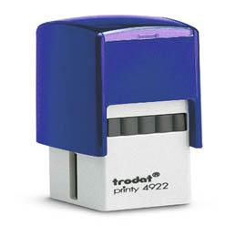 Tampon Trodat 4922 personnalisable - utilisation bureau - format 20x20 mm - bleu (photo)