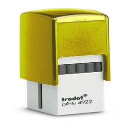 Tampon Trodat 4922 personnalisable - utilisation bureau - format 20x20 mm - jaune (photo)
