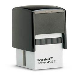 Tampon Trodat 4922 personnalisable - utilisation bureau - format 20x20 mm - noir (photo)