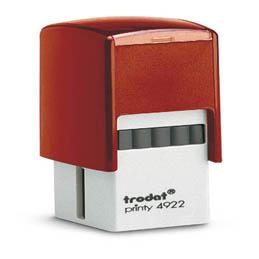 Tampon Trodat 4922 personnalisable - utilisation bureau - format 20x20 mm - rouge (photo)