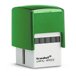 Tampon Trodat 4922 personnalisable - utilisation bureau - format 20x20 mm - menthe (photo)