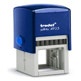 Tampon Trodat 4923 personnalisable - utilisation bureau - format 30x30 mm - bleu (photo)