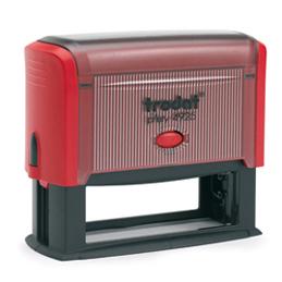 Tampon Trodat 4925 personnalisable - utilisation bureau - format 82X25 mm - rouge