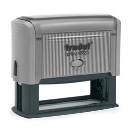 Tampon Trodat 4925 personnalisable - utilisation bureau - format 82X25 mm - gris