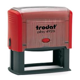 Tampon Trodat 4926 personnalisable - utilisation bureau - format 75X38 mm - rouge