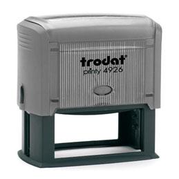 Tampon Trodat 4926 personnalisable - utilisation bureau - format 75X38 mm - gris