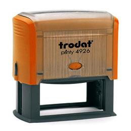 Tampon Trodat 4926 personnalisable - utilisation bureau - format 75X38 mm - mangue