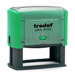 Tampon Trodat 4926 personnalisable - utilisation bureau - format 75X38 mm - menthe