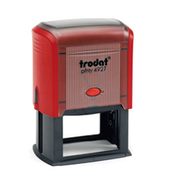 Tampon Trodat 4927 personnalisable - utilisation bureau - format 60X40 mm - rouge
