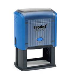 Tampon Trodat 4927 personnalisable - utilisation bureau - format 60X40 mm - bleu