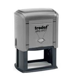 Tampon Trodat 4927 personnalisable - utilisation bureau - format 60X40 mm - gris