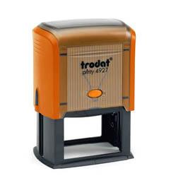 Tampon Trodat 4927 personnalisable - utilisation bureau - format 60X40 mm - mangue