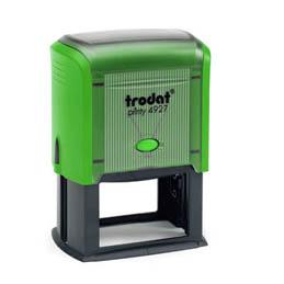 Tampon Trodat 4927 personnalisable - utilisation bureau - format 60X40 mm - menthe