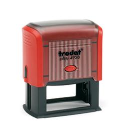 Tampon Trodat 4928 personnalisable - utilisation bureau - format 60X33 mm - rouge
