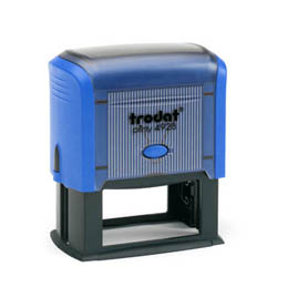 Tampon Trodat 4928 personnalisable - utilisation bureau - format 60X33 mm - bleu
