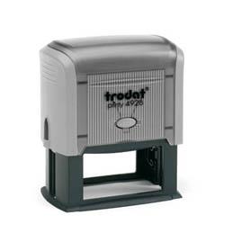 Tampon Trodat 4928 personnalisable - utilisation bureau - format 60X33 mm - gris
