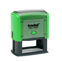 Tampon Trodat 4928 personnalisable - utilisation bureau - format 60X33 mm - menthe
