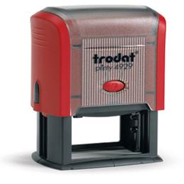 Tampon Trodat 4929 personnalisable - utilisation bureau - format 50X30 mm - rouge