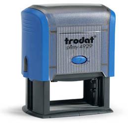 Tampon Trodat 4929 personnalisable - utilisation bureau - format 50X30 mm - bleu