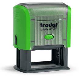Tampon Trodat 4929 personnalisable - utilisation bureau - format 50X30 mm - menthe