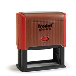 Tampon Trodat 4931 personnalisable - utilisation bureau - format 70X30 mm - rouge