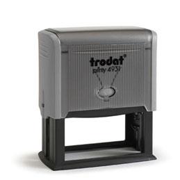 Tampon Trodat 4931 personnalisable - utilisation bureau - format 70X30 mm - gris