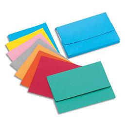 Boite de 25 chemises à poche en carte Rock's en carte 280 g - 24 x 32 cm - dos 3 cm - assortis pastel (photo)