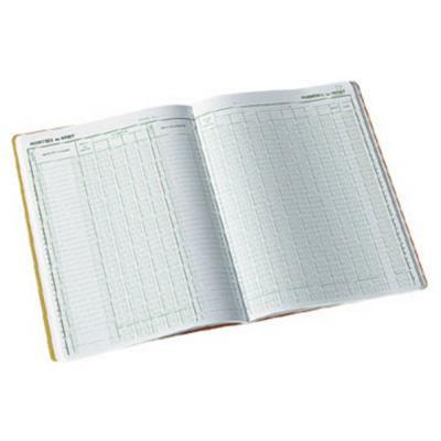 Registre comptable à colonnes - Piqûre Journal folioté 7600 - H.32 x L.19,5 cm (bloc 40 feuilles) (photo)