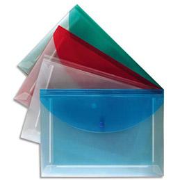 Enveloppe plate Propyglass à soufflets 5 compartiments en polypropylène 2/10e - A4 - coloris assortis