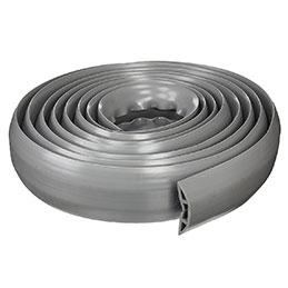 Passe-câble de bureau souple - gris - 5 m x 10.1 cm