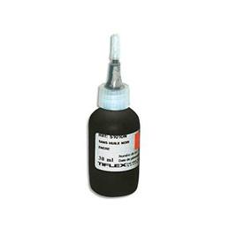 Encre Tiflex à tampon sans huile pour timbres caoutchoucs - flacon de 30ml - noir (photo)