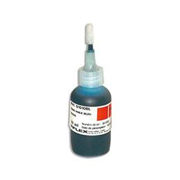 Encre Tiflex à tampon sans huile pour timbres caoutchoucs - flacon de 30ml - bleu (photo)
