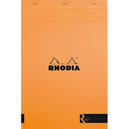 Bloc de bureau R by Rhodia couverture orange - 90 g - 21 x 29,7 cm - 70 feuilles ligné (photo)