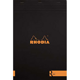 bloc de bureau r by rhodia couverture noire 90 g 22 5x29 7 cm a4 d tachable 70 feuilles. Black Bedroom Furniture Sets. Home Design Ideas