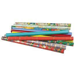Rouleaux de papier cadeau Maildor - motifs assortis - 2x0,70m - boîte de 10 (photo)