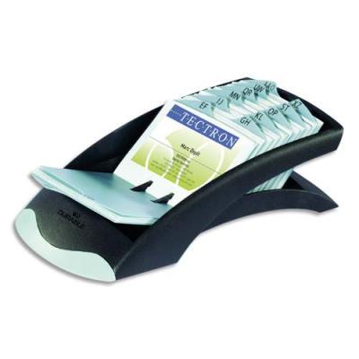 Fichier Linéaire Visifix Desk pour carte de visites - équipé de 100 pochettes pour 200 cartes - coloris noir et gris (photo)