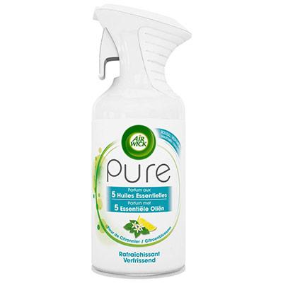 Désodorisant aérosol Pure aux huiles essentielles -  Fleur de citronnier - 250 ml (photo)