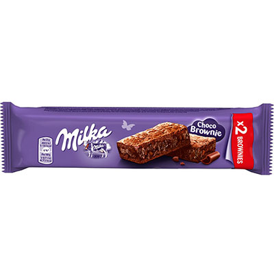 Choco Brownie - gâteau moelleux au chocolat au lait avec des pépites - sachet de 2 (photo)