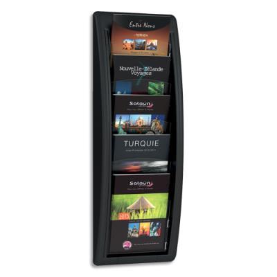 Présentoir mural noir 5 cases format A5