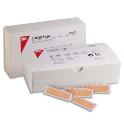 Boîte de 100 pansements micro-aéré Comfort - 1 taille format 1,9 x 7,6 cm (photo)