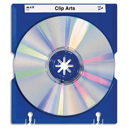 Porte CD Han max Tray - coloris bleu - Jeu de 10 porte-cd (photo)
