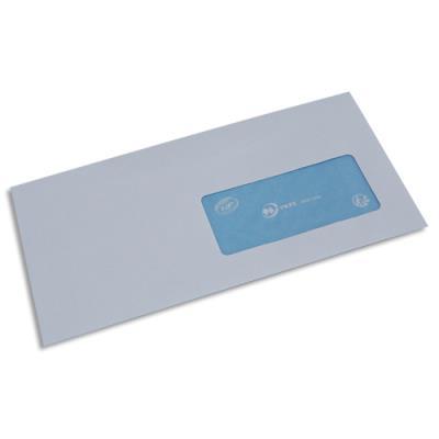 Enveloppes La Couronne pour mise sous pli automatique - 80 g - format 114 x 229 mm - fenêtre 45 x 100 - velin blanc - NF - boîte de 1000 (photo)