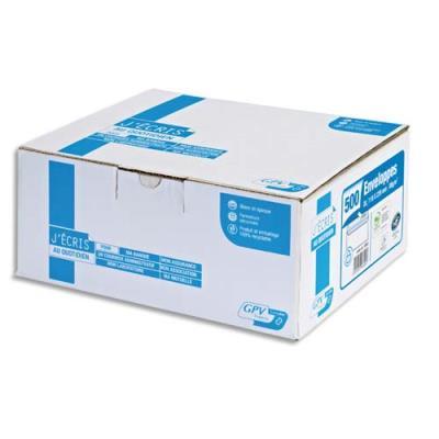 Enveloppes 162 x 229 mm GPV - extra blanches - fenêtre 45 x 100 mm - autoadhésives - 90 g - boite de 500